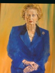 Mrs Thatcher's Iconic Blue Power Suit